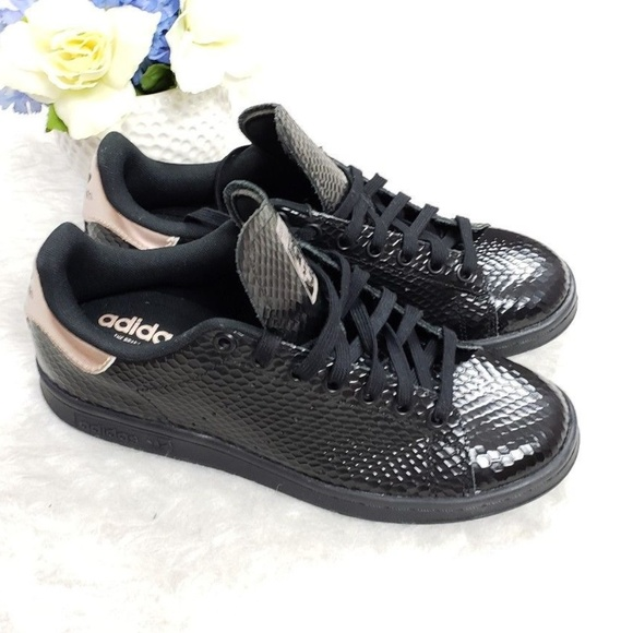 sneakers for cheap fe8e9 b9d61 adidas Shoes - NEW Adidas Stan Smith Snake Skin Black Sneakers